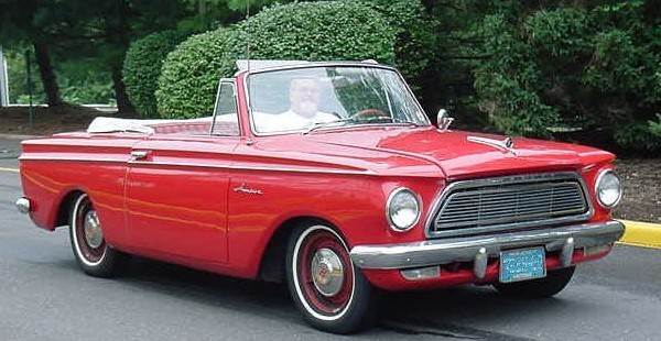 American Motors (AMC) vehicle, 1962 Rambler American. Photo by Christopher Ziemnowicz / Wikimedia Commons.