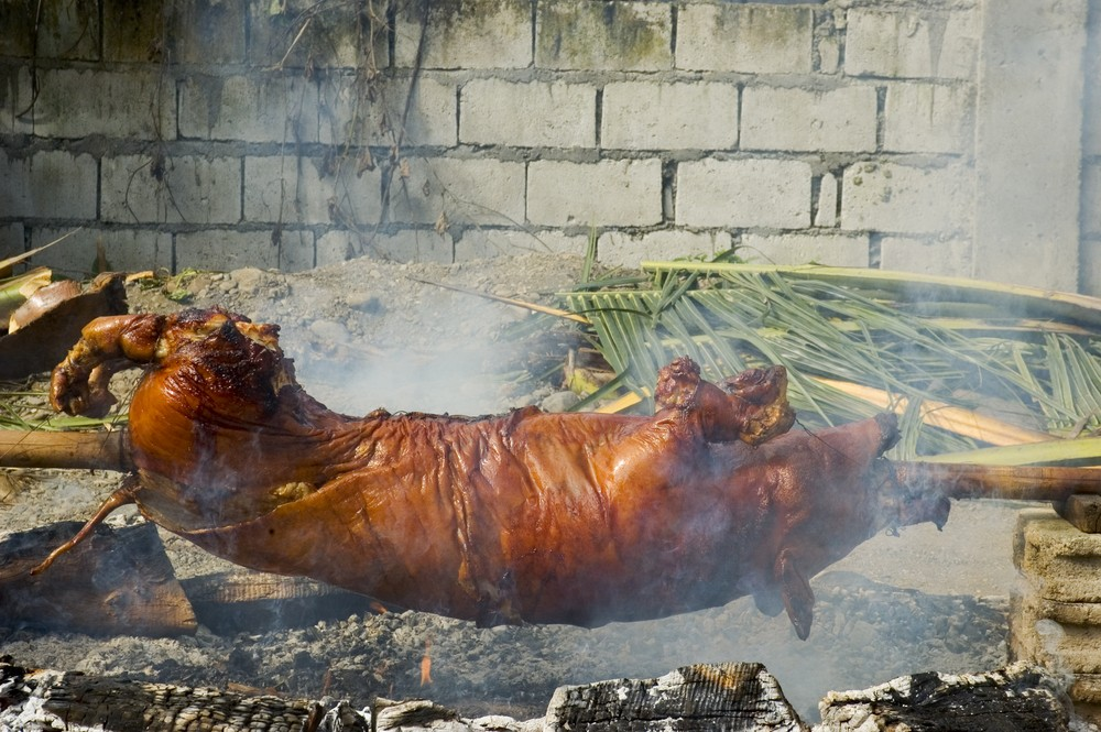 The Philippine Lechon or roasted pig is a national favorite. ShutterStock image