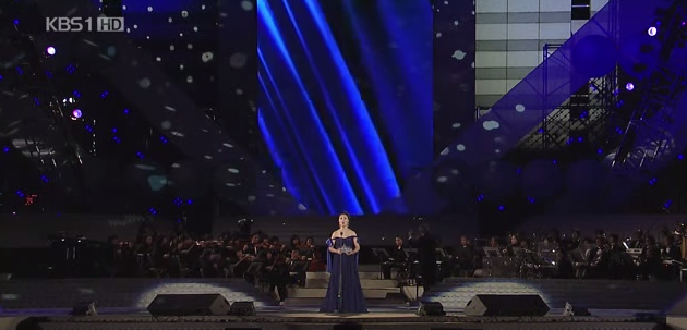Korean soprano Han Hye-jin Han performing Vissi d'arte in 'Tosca' (Screengrab from KBS)