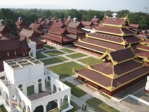 Mandalay Royal Palace View from Watch Tower (Wikipedia photo)