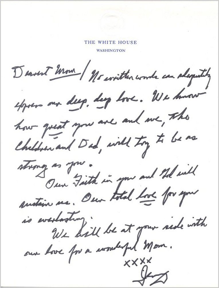 Gerald Ford to his Mom