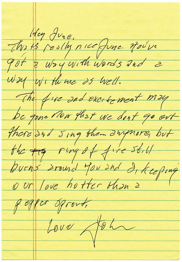 Johnny Cash to June Carter
