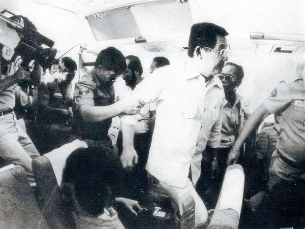 Ninoy Aquino's arrival