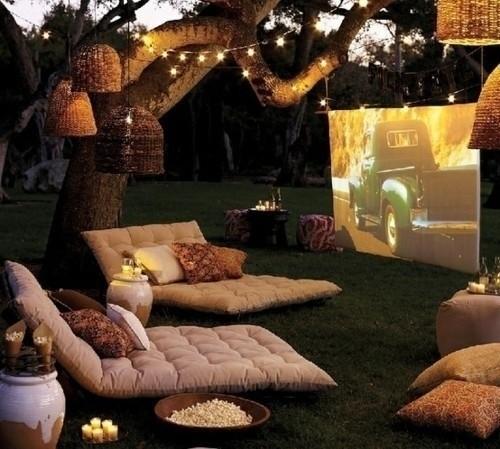 Outdoor movie night. Photo courtesy of BuzzFeed.
