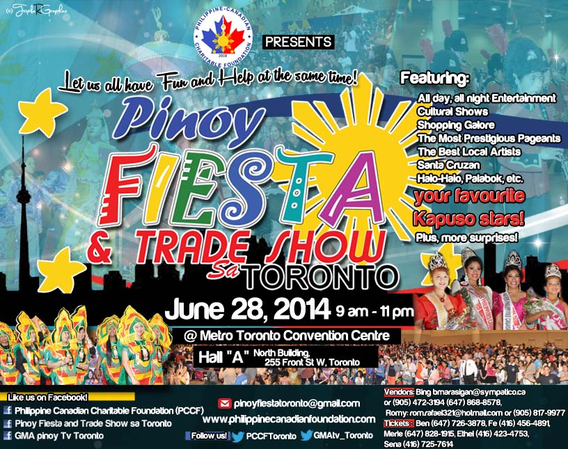 Pinoy Fiesta Toronto SAVE THE DATE 2014 v1
