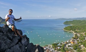 James at Taraw Ridge, El Nido, Palawan.