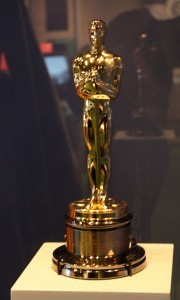 Cate Blanchett's Oscar for playing Katharine Hepburn in The Aviator in 2004. It is on permanent display at the Australian Centre for the Moving Image.  (Wikipedia photo)