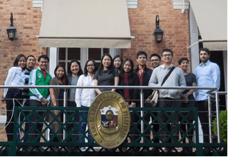 Filipino students pose with Embassy officials and CampusFrance representatives