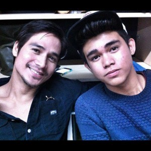 Piolo Pascual and son Iñigo (Photo from the Facebook Page of Iñigo Pascual)