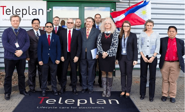 Philippine Embassy  Officials Dr. Juan E. Dayang, Jr., Charge d'Affaires, a.i.  Mr. Arcangelo Sta. Ana, Communications Officer, Economic Assistant and Attaché,  and Embassy Staff Carlos Tienzo visit Teleplan Company with officials from Czech Ministry of Labor including  Dr. Jiři Král, Deputy Director General of the Labor Office and Bc. Renata Malichová, Director of the Regional Branch of the Labor Office in Pribram, and Bc. Veronica Žurovcová, Spokesperson, with hosts Teleplan Company's Vice President Pierre Gingras of Operations, Ingr. Jan Bejcĕk, Pieter Wagebaert, Corporate Finance Director, Mgr. Peter Pesek, HR Manager, and  Site Manager Jakub Mancinčin.