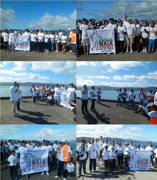 (Photos above, 1st row) Philippine Ambassador Virginia H. Benavidez with the members of the Iglesia ni Cristo Congregation of the Greater Wellington Region and the Philippine Embassy officer and staff during the Iglesia Ni Cristo Worldwide Walk for those affected by Typhoon Yolanda (Haiyan); Ambassador Benavidez with Hutt City Mayor, His Worship Ray Wallace, at the start of the Iglesia Ni Cristo Worldwide Walk for those affected by Typhoon Yolanda. (2nd row photos) Hutt City Mayor, His Worship Ray Wallace, delivers his remarks at the Iglesia Ni Cristo Worldwide Walk for those affected by Typhoon Yolanda; Bro. Uziel Bongares, Resident Minister of North Shore and Wellington for Iglesia Ni Cristo, thanking the participants of the Iglesia Ni Cristo Worldwide Walk for those affected by Typhoon Yolanda. (3rd row photos) Ambassador  Benavidez and Hutt City Mayor, His Worship Ray Wallace, leading the Iglesia Ni Cristo Worldwide Walk for those affected by Typhoon Yolanda;  Ambassador Benavidez and Hutt City Mayor, His Worship Ray Wallace, at the end of the first half of the Iglesia Ni Cristo Worldwide Walk for those affected by Typhoon Yolanda.