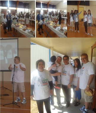 (Left photo above) Ambassador Benavidez and the congregation members of the Greater Wellington Region the of Iglesia Ni Cristo celebrating birthdays and anniversaries at the fellowship luncheon after the Iglesia Ni Cristo Worldwide Walk for those affected by Typhoon Yolanda; (Right photo above) Iglesia Ni Cristo youth performing a dance number.(Left photo below) Hutt City Mayor, His Worship Ray Wallace, thanking the Iglesia Ni Cristo at the fellowship luncheon after the Iglesia Ni Cristo Worldwide Walk for those affected by Typhoon Yolanda. (Right photo below) Ambassador Benavidez, Hutt City Mayor, His Worship Ray Wallace, and Bro. Uziel Bongares, Resident Minister of North Shore and Wellington for Iglesia Ni Cristo, with congregation members at the fellowship luncheon after the Iglesia Ni Cristo Worldwide Walk for those affected by Typhoon Haiyan.