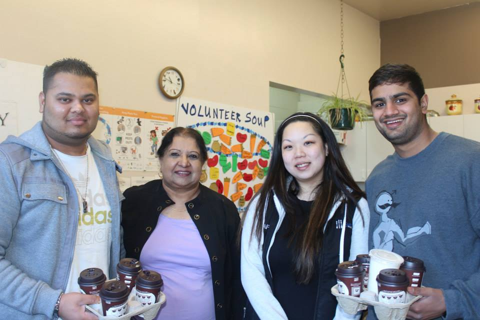 Kuldip with Surrey Food Bank Volunteers. PCI file photo.