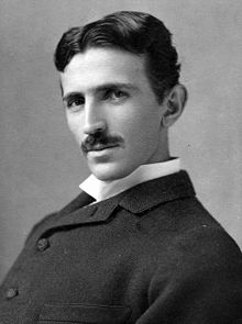 Nikola Tesla, circa 1890 (Wikipedia photo)