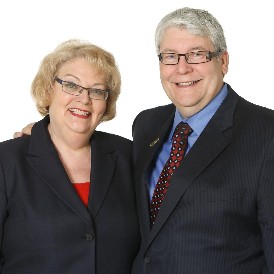 Dave and his wife, Janet. Photo: Facebook Page of Minister Dave Hancock