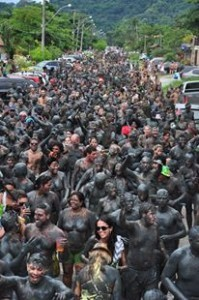 Bloco Da Lama 2013 parade of mud-covered revelers in Brazil