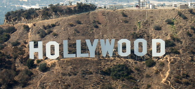 Hollywood sign in Los Angeles, California. (Wikipedia photo)