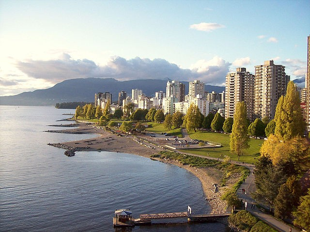 English Bay, Vancouver, BC. Photo by James Z via Wiki Commons.
