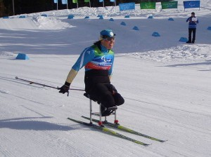 Olena Iurkovska, a paralympic cross-country skier in the 2010 Winter Paralympic Games, Whistler Olympic Park, British Columbia (Wikipedia photo)
