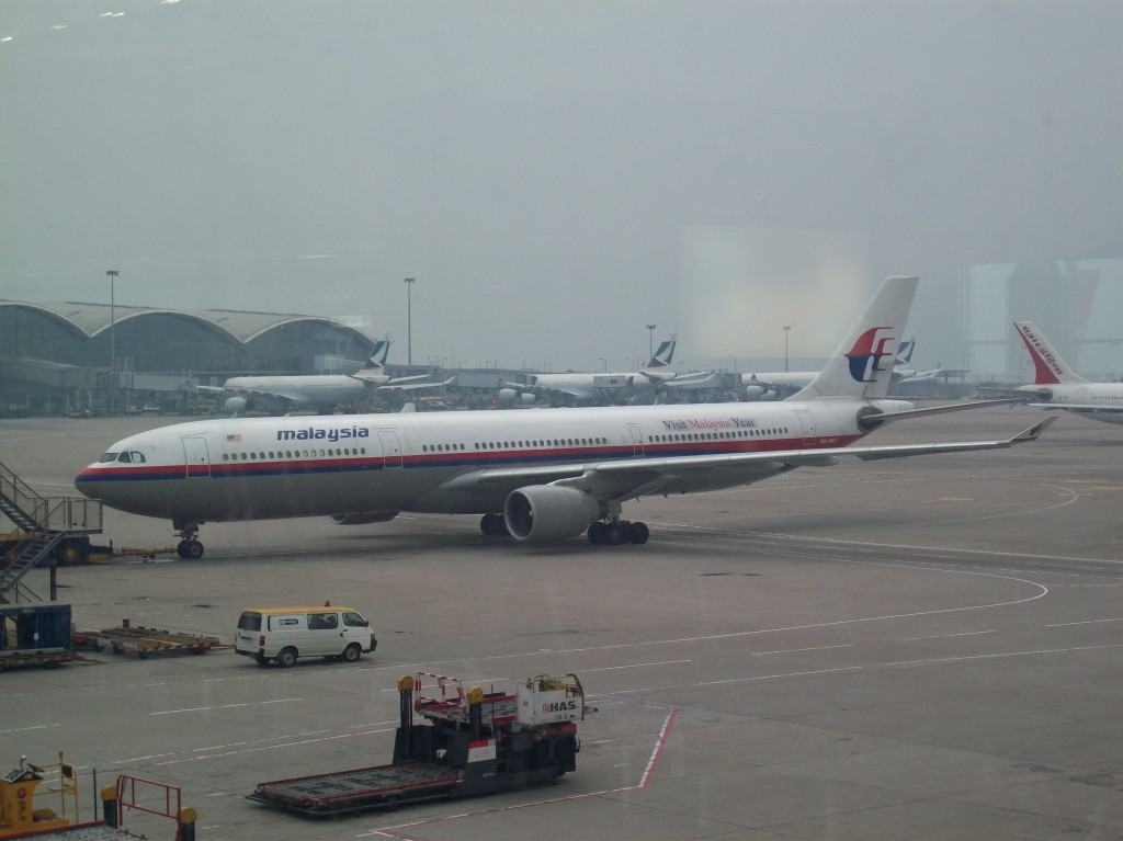 A Malaysia Airlines Airbus A-330 departing from Hong Kong International Airport. Photo by Kelly / Wikimedia Commons.