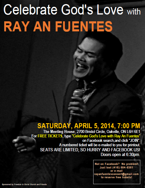 Celebrate God's love with composer Ray An Fuentes