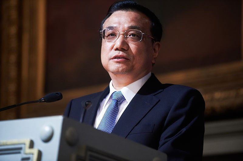 Chinese Premier Li Keqiang speaks on urbanisation at a high-level conference co-organised by Friends of Europe. Photo by Friends of Europe / Wikimedia Commons.
