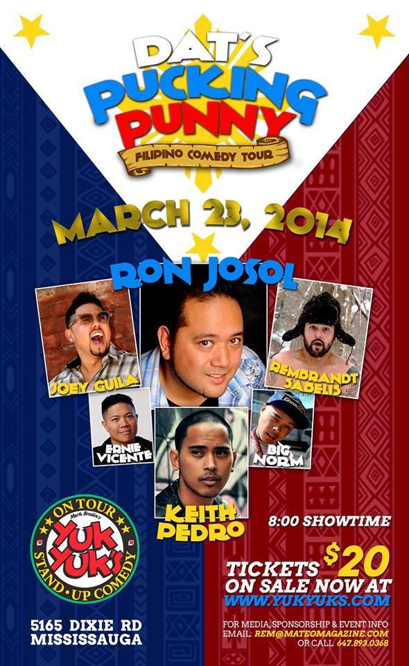 Dat's Pucking Punny Filipino Comedy Tour