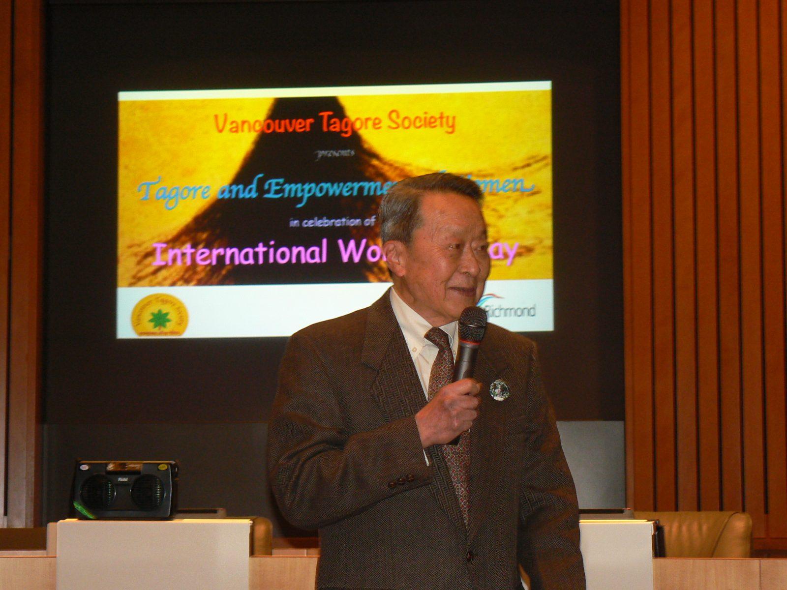 Lee Tan President Vancouver Tagor Society