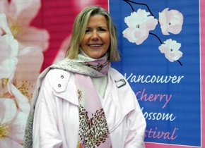 Linda Poole, founder of the Vancouver Cherry Blossom Festival.