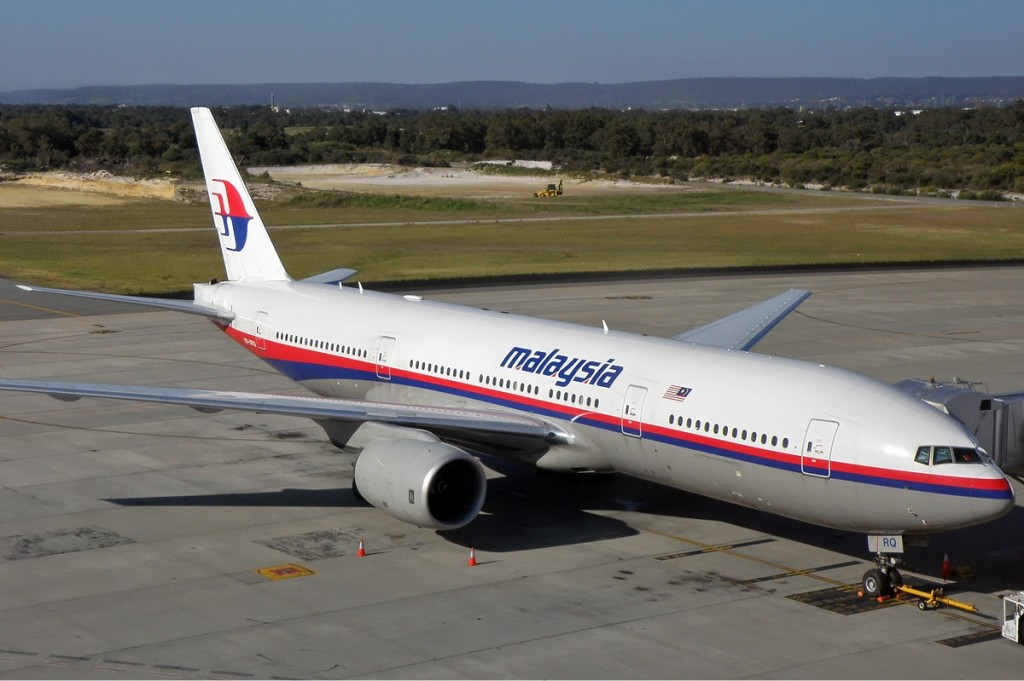 Malaysia Airlines Boeing 777-2H6ER at Perth Airport. Photo by Darren Koch / Wikimedia Commons.