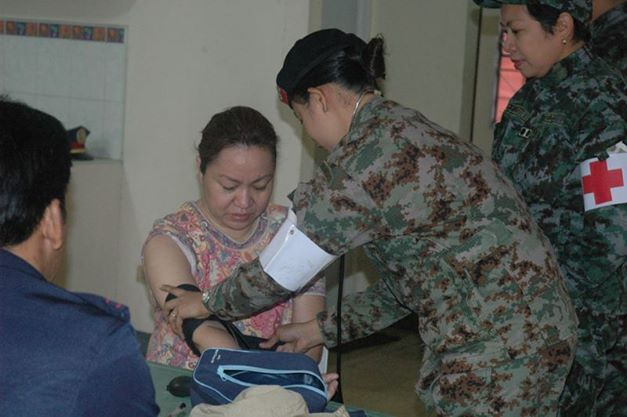 Janet Lim-Napoles being admitted to Fort Sto. Domingo. Photo courtesy of PNP Public Information Office on Facebook.
