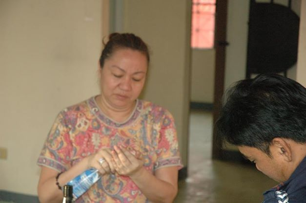 Janet Lim-Napoles at Fort Sto. Domingo. Photo courtesy of PNP Public Information Office on Facebook.