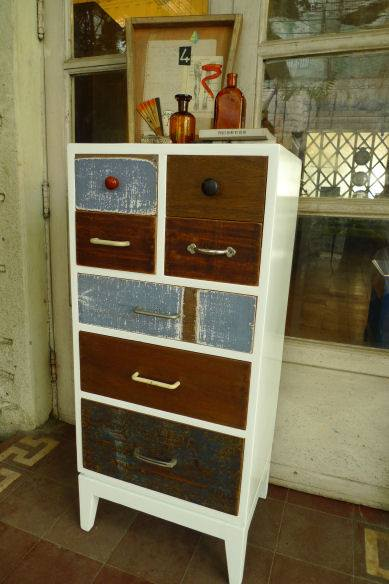Chest of drawers. Made from reclaimed wood and plywood. (Photo: Resurrection Furniture and Found Objects Gallery)