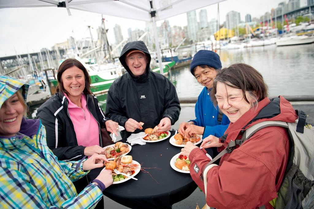 People enjoying the Spot Prawn Festival last year. Photo courtesy of Chef's Table Society.