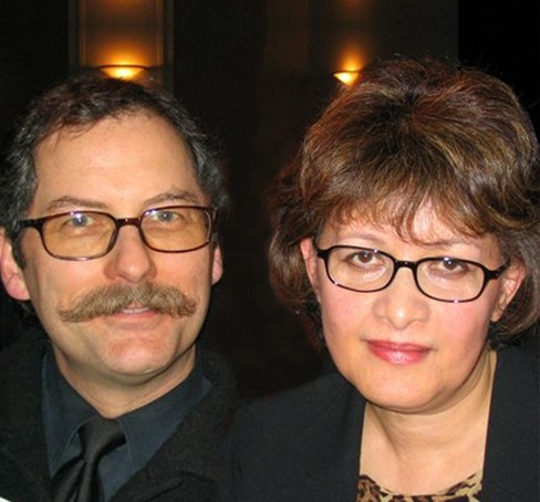 Owners and producers Brian and Lili Caws