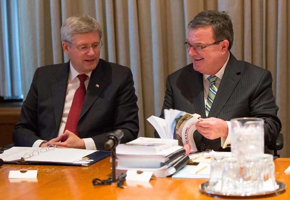 Jim Flaherty with Canada PM Stephen Harper Photo: Facebook Page of Jim Flaherty
