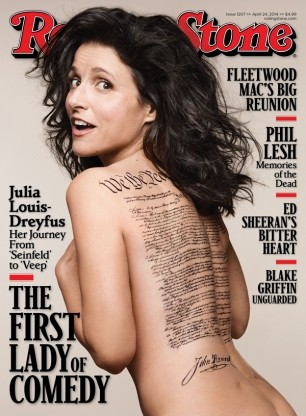 Julia Louis-Dreyfus on the cover of Rolling Stone. (Photo: Mark Seliger / www.rollingstone.com)