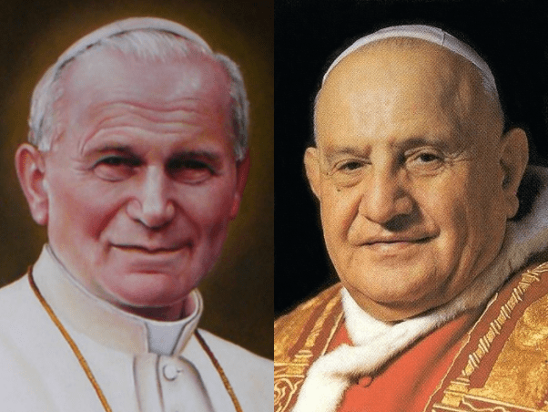 Popes John Paul II and John XXIII  (Wikipedia photo)