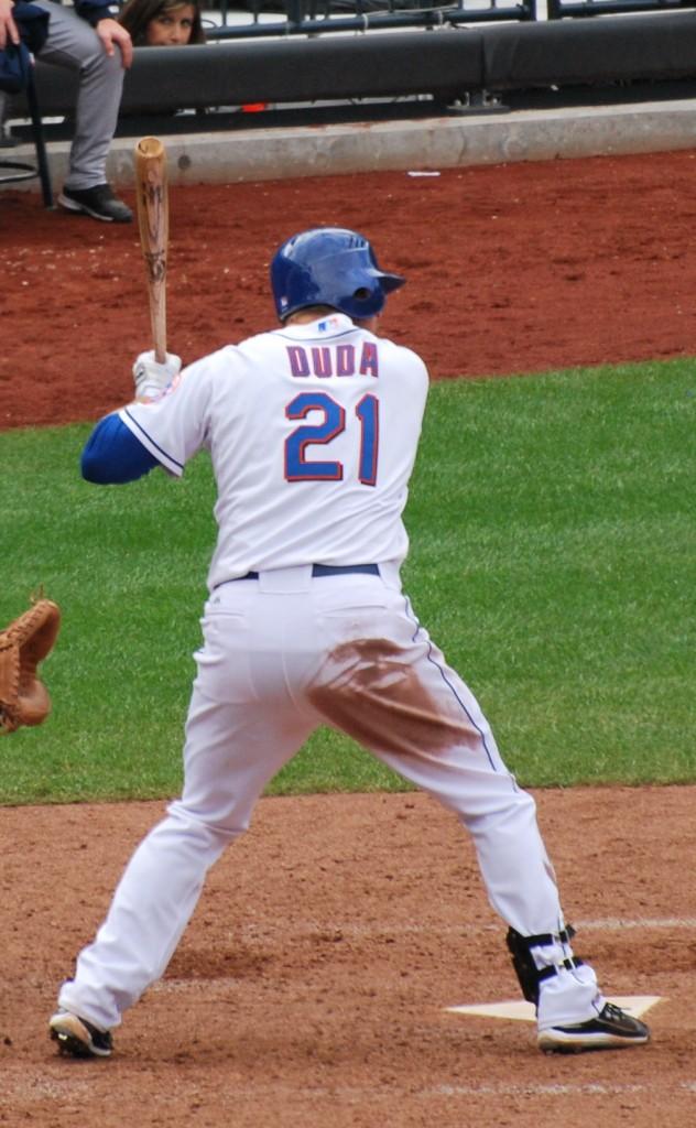 Lucas Duda in 2010. (Wikipedia photo)