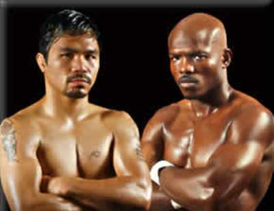 Pacquiao and Bradley (Wikipedia photo)