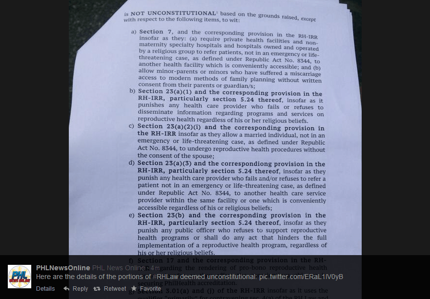SC ruling. Photo courtesy of @PHLNewsOnline on Twitter / Screenshot by Ching Dee