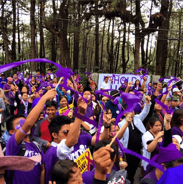 The RH advocates waiting for the final announcement. #upholdrhlaw #yes2rh - @CarlosCeldran via Instagram