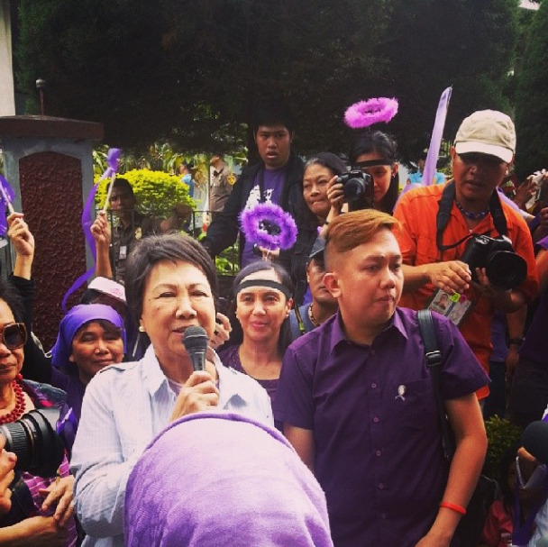 #YES2RH Purple Ribbon Lead Convener Sec. Espie Cabral thanks SC for upholding #RHLAW and all its supporters - @AlvinDakis via Instagram