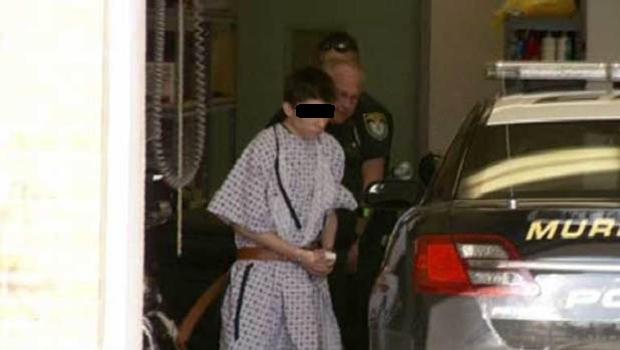 Franklin Regional HS stabbing suspect in custody. Screengrab from CBS News