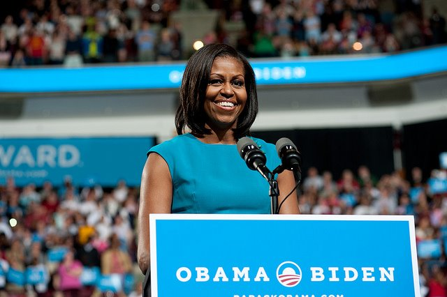 U.S. First Lady Michelle Obama. Photo courtesy of Barack Obama's official Facebook page.