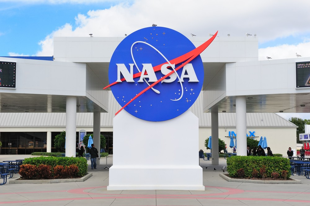 NASA logo in Kennedy Space Center on February 12, 2012 in Merritt Island, Florida. It is the launch site for every United States human space flight since 1968. Songquan Deng / Shutterstock