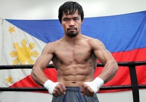 Manny Pacquiao is in fighting form for Saturday's bout with Bradley. Photo by Chris Farina / Manny Pacquiao official Facebook page