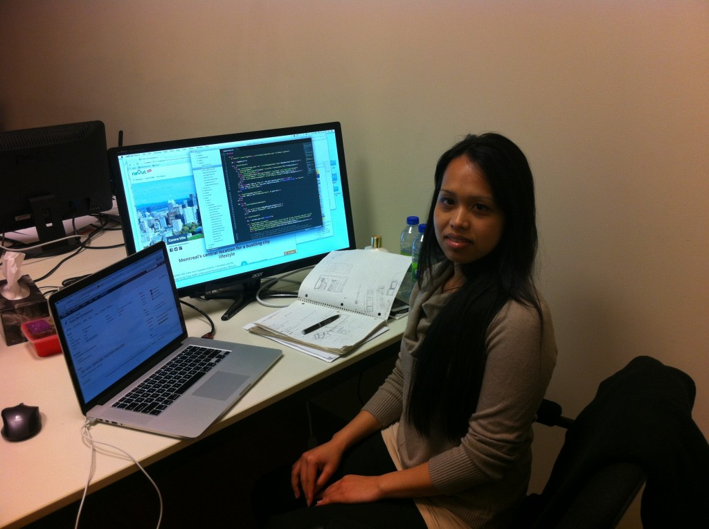 Filipino-Canadian Aureabelle Cruz, busy at work as Navut's co-founder and graphic designer. (Photos courtesy of Navut / Grace Mitchell)