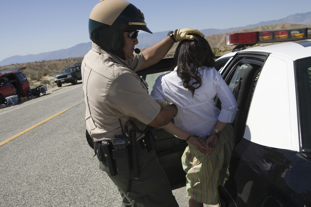 Woman arrested. File photo by bikeriderlondon / ShutterStock