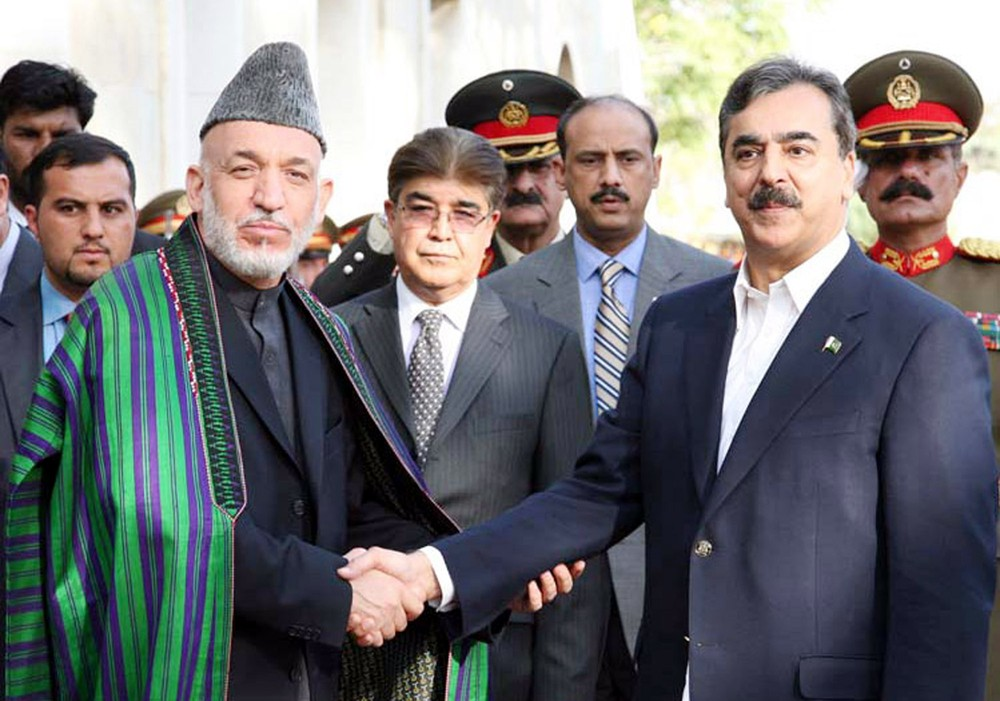 Hamid Karzai (left). Photo by Asianet-Pakistan / Shutterstock